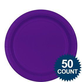"Purple 9"" Paper Luncheon Plates (50 Pack)"