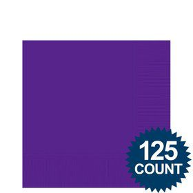 Purple Beverage Napkins (125 Pack)