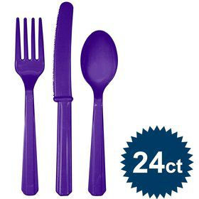 Purple Cutlery Set