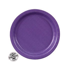 Purple Dessert Paper Plates (8 Count)