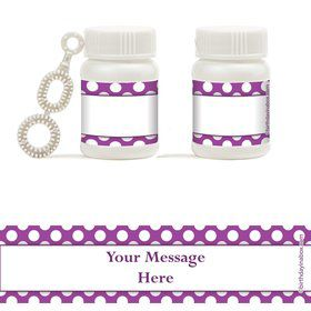 Purple Dots Personalized Bubbles (18 Pack)