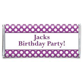 Purple Dots Personalized Candy Bar Wrapper (Each)