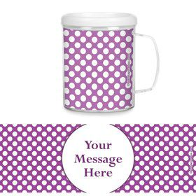 Purple Dots Personalized Favor Mugs (Each)