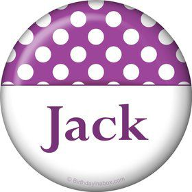 Purple Dots Personalized Magnet (Each)