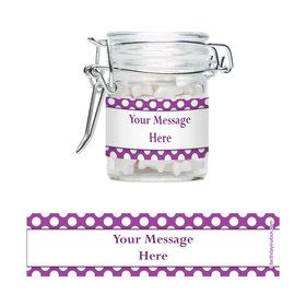 Purple Dots Personalized Swing Top Apothecary Jars (12 ct)