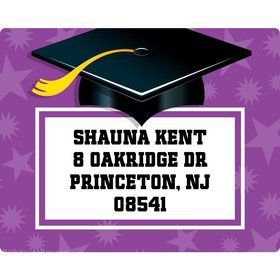 Purple Grad Personalized Address Labels (Sheet Of 15)
