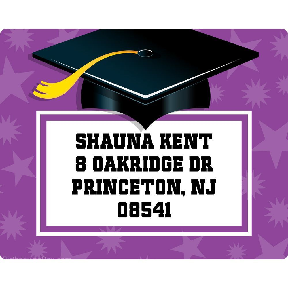 purple grad personalized address labels return address labels and