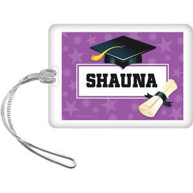 Purple Grad Personalized Bag Tag (Each)