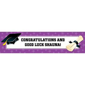 Purple Graduation Personalized Banner (Each)