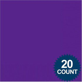 Purple Luncheon Napkins (20 Pack)
