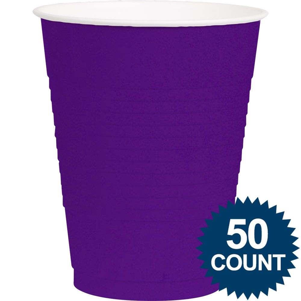 Purple Plastic 16oz. Cup (50 Pack) - Party Supplies BB436801106