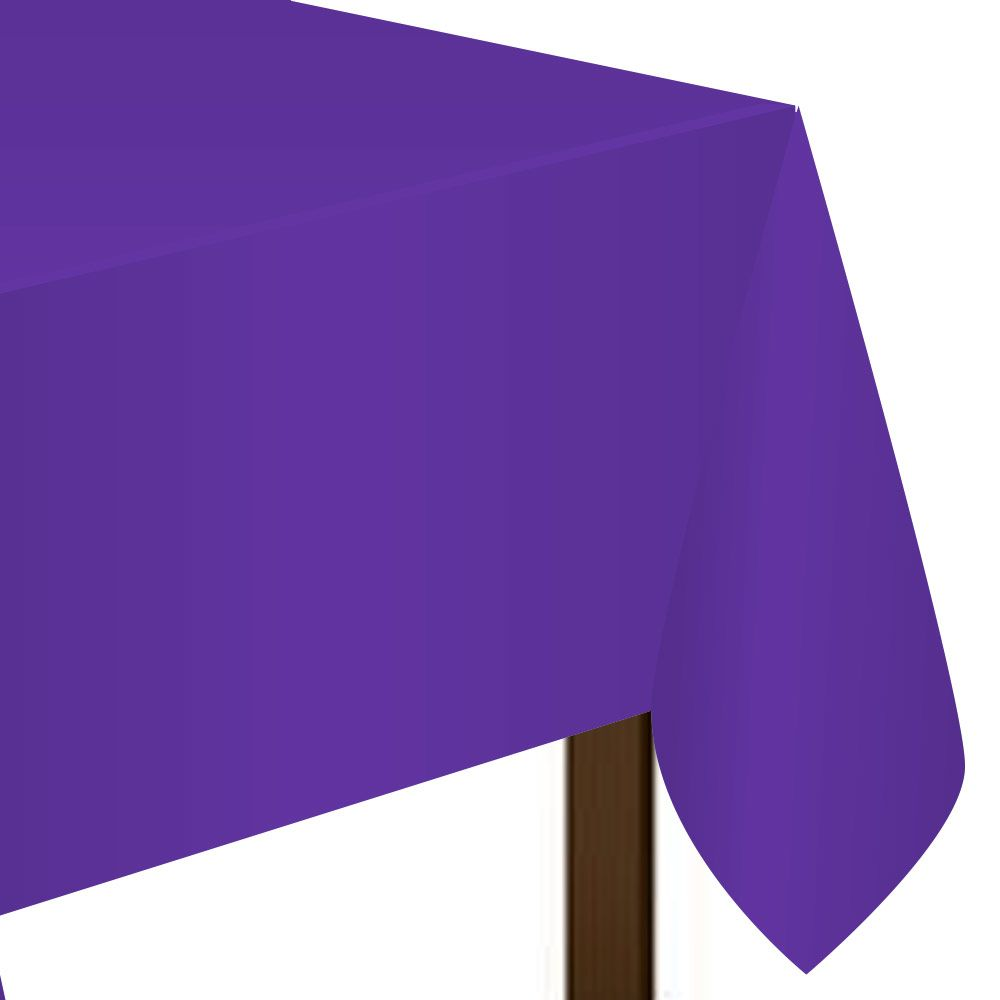 Purple Plastic Table Cover (Each) BB77015106