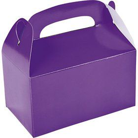 Purple Treat Favor Boxes (6 Pack)
