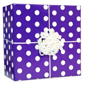 Purple with Polka Dots Gift Wrap Kit