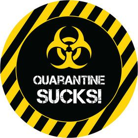 Quarantine Party Mini Stickers (Sheet of 24)