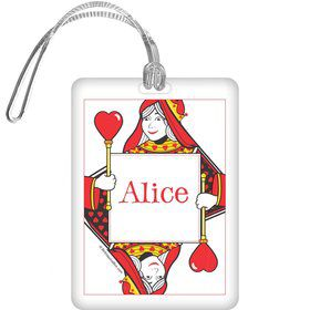 Queen's Card Party Personalized Bag Tag (each)