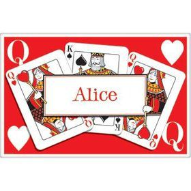 Queen's Card Party Personalized Placemat (each)