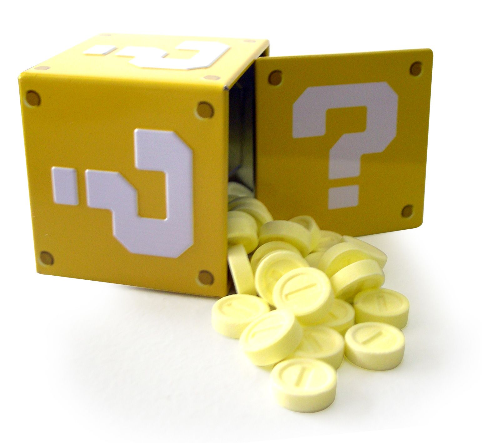 Question Mark Box Coin Candy Tin - Party Supplies