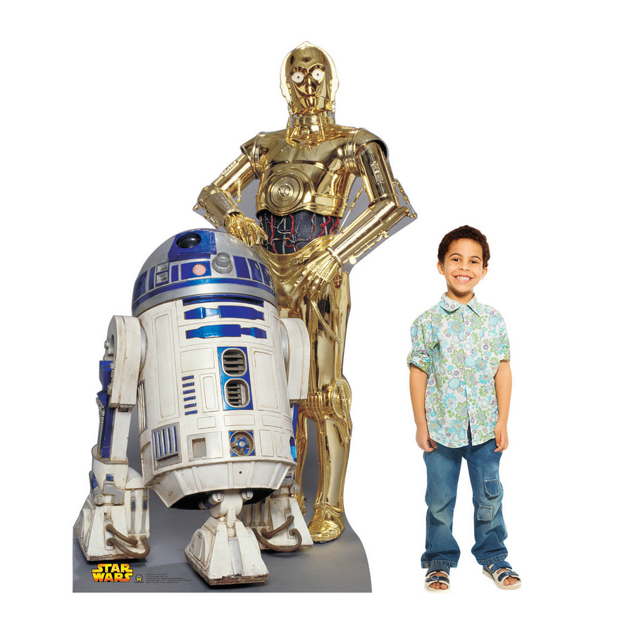 R2-D2 And C-3Po Cardboard Standup (Each) BB530
