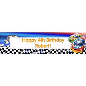 Race Cars Personalized Banner (each)
