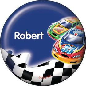 Race Cars Personalized Button (each)