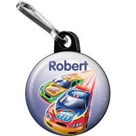 Race Cars Personalized Mini Zipper Pull (each)