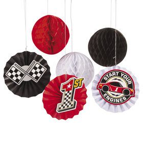 Racecar Birthday Hanging Fans (12)