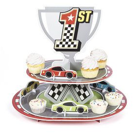 Racecar Birthday Treat Stand (1)