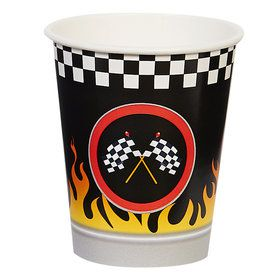 Racecar Racing Party 9oz Paper Cups (8)