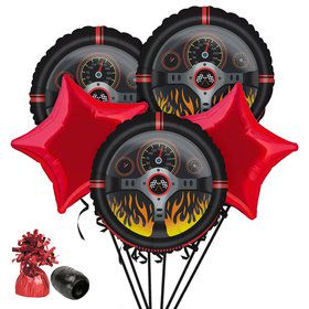 Racecar Racing Party Balloon Bouquet Kit