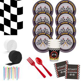 Racecar Racing Party Deluxe Tableware Kit (Serves 8)