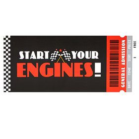 Racecar Racing Party Invitations (8)