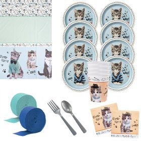 Rachael Hale Cats Rule Deluxe Tableware Kit (Serves 8)