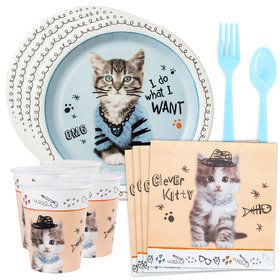 Rachael Hale Cats Rule Standard Tableware Kit (Serves 8)