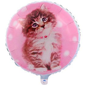 Glamour Cats Foil Balloon by Rachael Hale