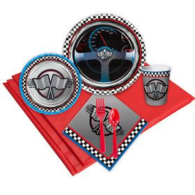 Racing Birthday Party Deluxe Tableware Kit Serves 8