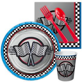 Racing Birthday Party Standard Tableware Kit Serves 8