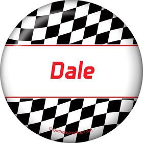 Racing Flag Personalized Button (each)
