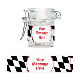 Racing Flag Personalized Glass Apothecary Jars (10 Count)