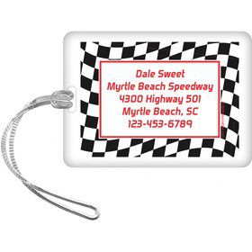 Racing Flag Personalized Luggage Tag (each)