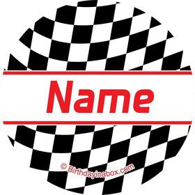 Racing Flag Personalized Mini Stickers (Sheet of 20)