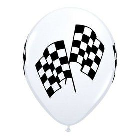 "Racing Flags 11"" Latex Balloons (50 Pack)"