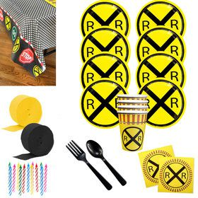 Railroad Party Deluxe Tableware Kit (Serves 8)