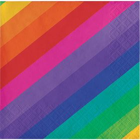 Rainbow Beverage Napkins (16)