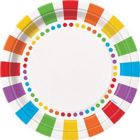 "Rainbow Birthday 9"" Luncheon Plates (8 Pack)"
