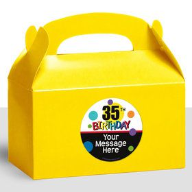 Rainbow Birthday Add-Any-Age Personalized Treat Favor Boxes (12 Count)