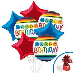 Rainbow Birthday Balloon Bouquet Kit