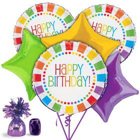 Rainbow Birthday Balloon Kit (Each)