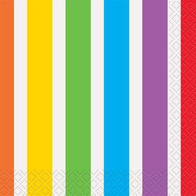 Rainbow Birthday Beverage Napkins (16 Pack)