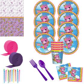 Rainbow Butterfly Unicorn Deluxe Tableware Kit (Serves 8)